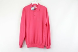 NOS Vintage 80s Asics Mens Medium Spell Out Long Sleeve Polo Sweatshirt ... - $49.45