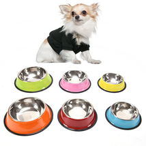 Stainless Steel Dog Bowl Pet Food Water Feeder for Dog/Cat Feeding Bowls - $7.60+
