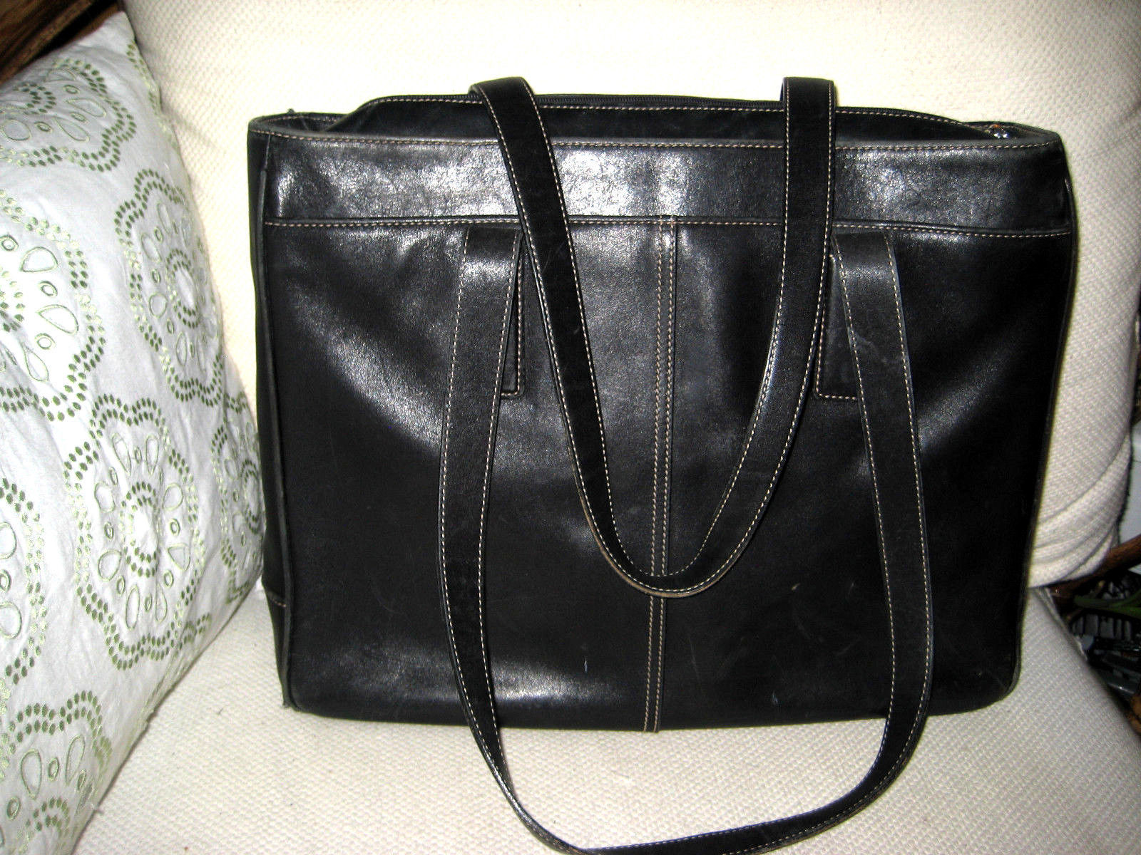 9adc66768bf4 S l1600. S l1600. Previous. AUTH Coach Hamptons Padded Laptop Business Tote Brief  Case Black Leather 5209