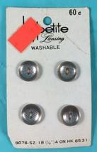 """Vintage Buttons - La-Petite (By Lansing) 8076 Sz 18 (7/16"""") 4/Card 6531 ... - $2.48"""