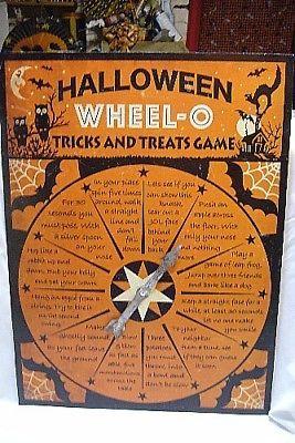Bethany Lowe Halloween Tin Wheel Trick O' Treat  Game