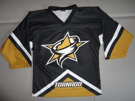 New Without Tags SEWN Texas Tornado Minor League Hockey NAHL Youth M Jersey nhl - $34.64