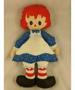 """Raggedy Ann Sewn Doll 17"""" 1982 The Bobbs-Merrill Co Stuffed - $9.70"""