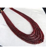 NATURAL RED SPINEL BEADS ROUND 5 LINE 469 CARATS GEMSTONE COLLECTION NEC... - $3,515.00