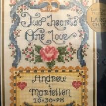 Bucilla Wedding Sampler Kit 42017 Matting & Frame Cross Stitch New Sealed 1998 - $28.00