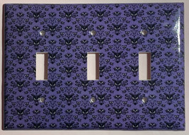 Haunted Mansion purple wallpaper Light Switch Outlet wall Cover Plate Home Decor image 12