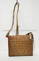NWT Brahmin Manhattan Leather Shoulder/Crossbody Bag in Toasted Almond Melbourne image 10