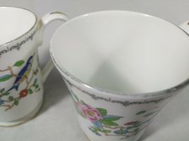 Aynsley Pembroke Tea Cups Fine English Bone China Birds Floral Set of 2 Mugs image 12