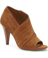 Women Vince Camuto Anara Peep Toe Booties, Multi Sizes Brown True Suede ... - $119.95
