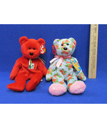 TY Beanie Babies Plush Original Stuffed Animals 1999 Osito & 2008 Mother... - $12.22