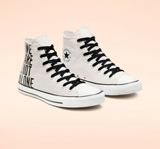 Converse Mens CTAS Hi We Are Not Alone Canvas 165468F Pale Putty/Black/W... - $64.99