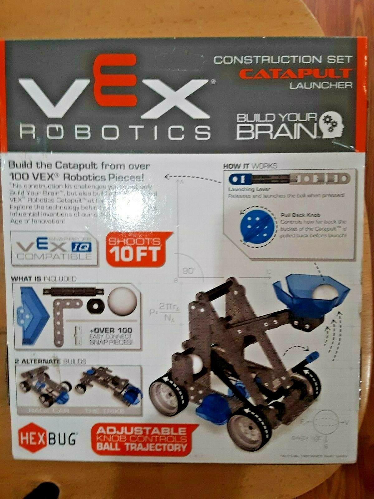 SALE! HEXBUG VEX Robotics Catapult Launcher 3-Builds STEM Starter Kit 115 Pcs
