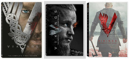 Vikings Season 1 2 3 One Two Three Complete DVD Set Series TV History Colle - $69.29