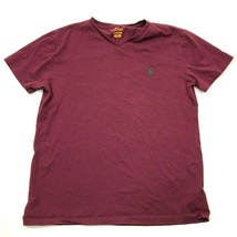 Polo Ralph Lauren Shirt Size Small S Red V-neck Cotton Short Sleeve Tee ... - $17.83