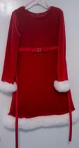 Bonnie Jean Size 6X Red Sparkle Holiday Dress w/White Faux Fur Trim/EUC - $19.79