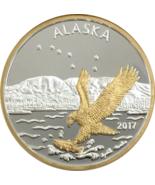 Alaska Mint Official 2017 State Medallion Gold & Silver Medallion Proof ... - $143.74