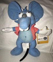 """The Simpsons Itchy And Scratchy 2014 Toy Factory Blue Mouse Plush 11"""" - $16.82"""