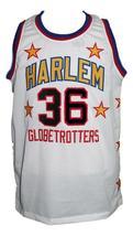 Meadowlark Lemon #36 Harlem Globetrotters Basketball Jersey Sewn White Any Size image 4