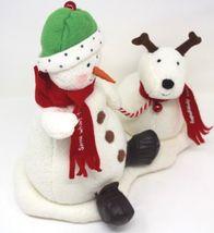 Hallmark Jingle Pals Snowman and Dog 2004 Plush Sound Motion Jingle Bells Xmas image 4