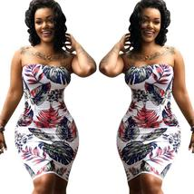 Women Sexy Off The Shoulder Strapless Sundress Package Hip Dress - €17,37 EUR+