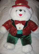"Dan Dee Collectors Choice 24"" Snowflake Teddy Bear 2000 EUC Free Shippin... - $18.38"