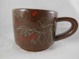 NWT Starbucks Coffee Mug 10 oz Fall leaves & Berries Abstract Brown 2009 - $8.16