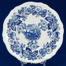 Copeland Spode Old Salem Blue & White Dinner Plate Scalloped Pie Crust R... - $13.99