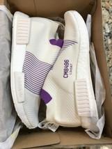 Adidas NMD CS1 Primeknit Boost Womens Running Shoes Size 9 White/Purple ... - £128.11 GBP