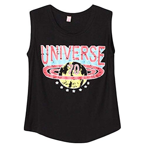 Classic Black Printing [UNIVERSE] Comfty Tank Tops/Camisole/Loose Tops(Asian L)