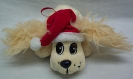 "Pound Puppies HOLIDAY CREAM PUPPY DOG W/ SANTA HAT 6"" Plush TOY STUFFED ... - $14.85"