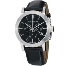 Burberry BU9356 Large Check Black Dial Swiss Made Mens Watch - $198.00