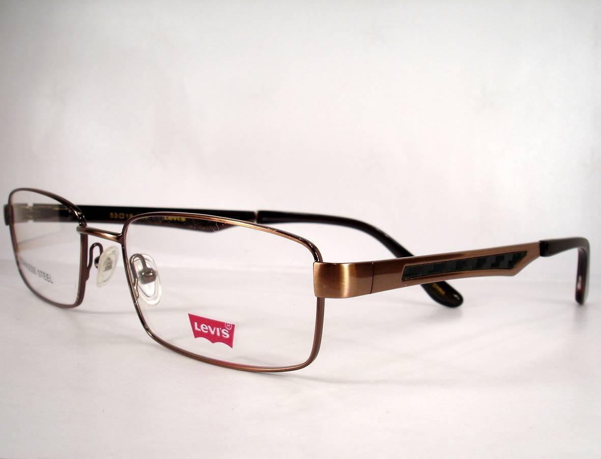 Levis Eyeglasses 580 Light Brown 1 Men new Frames 53-18-140 Stainless Steel - $59.37
