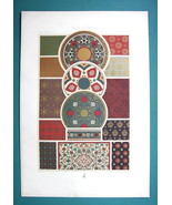 INDO-PERSIAN Decorative Patterns Ornaments - COLOR Litho Print A. Racinet - $22.95