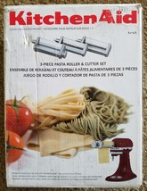 NEW! KitchenAid KSMPRA 3-Piece Pasta Roller & Cutter Attachment Set KPRA - $94.58