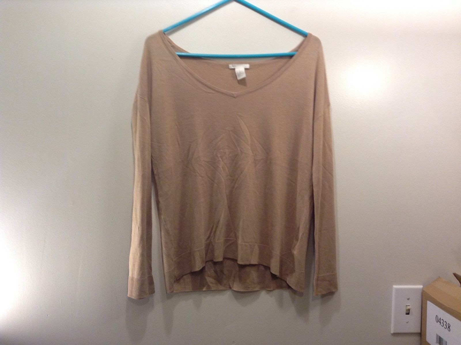Primary image for H&M Basic Long Sleeve Tan Shirt Sz XS
