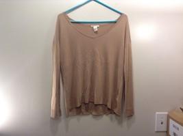 H&M Basic Long Sleeve Tan Shirt Sz XS