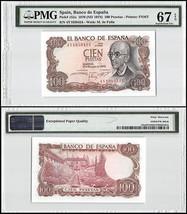 Spain 100 Pesetas, 1970 (ND 1974), P-152a, UNC, M. de Falla, PMG 67 EPQ - $29.99
