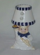 "Kitchen Traditions Earthenware Pig Hurricane Ceramic Lamp 7"" - $14.99"