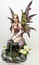 FOREST LAGOON MAGICAL FAIRY WATERING FROM CISTERN STATUE SPECTACULAR SCU... - £29.06 GBP