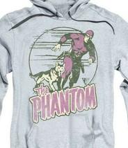 The Phantom hooded sweatshirt retro comics distressed graphic hoodie WSF180 image 2