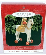Hallmark Keepsake Christmas Ornament A Pony For Christmas Series 1 - $11.04