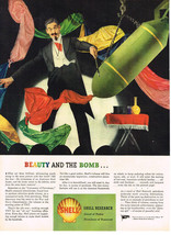 Vintage 1944 Magazine Ad Shell Oil Research Sword Of Today Plowshare of Tomorrow - $5.93