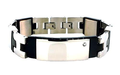 QB17 Dalimara White Ceramic Energy Bracelet Jewelry with Crystals - New - $39.95