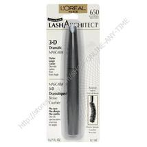 L'OREAL LASH ARCHITECT DRAMATIC MASCARA BLACK BROWN 650 - $7.53