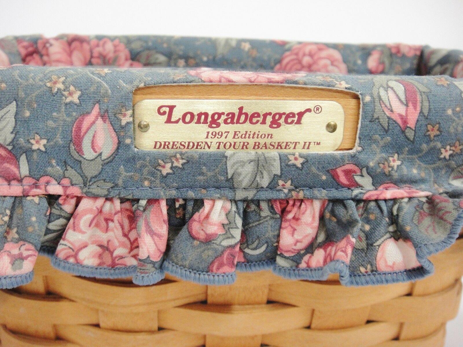 Longaberger 1997 Dresden Tour Basket II Fabric Liner & Protector 3 Signatures image 3