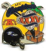 NFL Licensed 2001 AFC Championship Baltimore Ravens Pin - $5.00