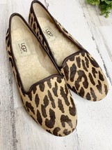 UGG Blyss Leopard Calf Hair Slip-on Shoe Flats Loafers Size 6 Shearling - $55.15