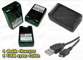LG Optimus Q L55C External Battery Charger + USB Data Sync Cable Straigh... - $13.93