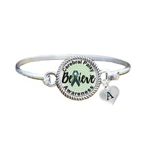 Custom Cerebral Palsy Awareness Believe Silver Bracelet Jewelry Choose I... - $13.80+