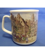 J C V Hunnik Collection Handdecorated White Coffee Tea Mug Holland - $6.95